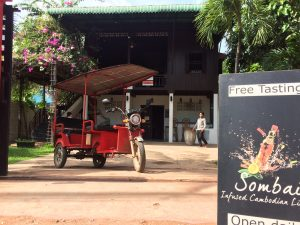 Green vehicule eTuk Siem Reap Sombai